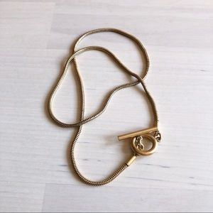 Madewell Toggle Snake Chain Choker Necklace